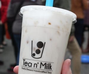aesthetic, milky, and bubble tea image