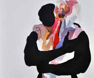 art, hug, and love image