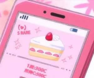 pink, anime, and cake image