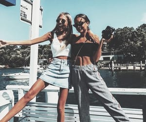 friends, girl, and fashion image