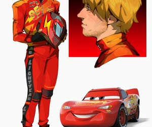 cars, fanart, and lightning mcqueen image