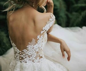wedding, dress, and lace image