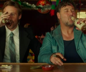 alcohol, Russel Crowe, and ryan gosling image