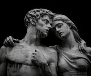 art, dark, and sculpture image
