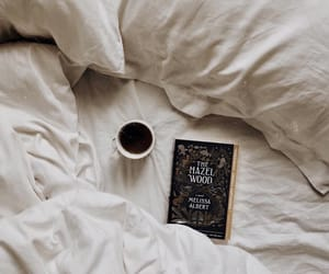 autumn, bed, and book image