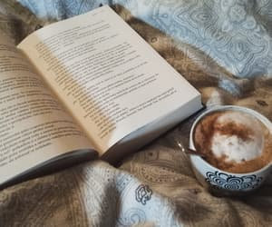 book, coffee, and coffee lover image