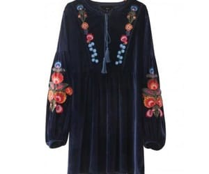 bohemian, embroidery, and dress image