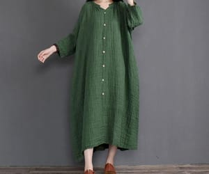 etsy, green dress, and long dress image