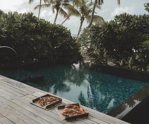 food, pizza, and pool image