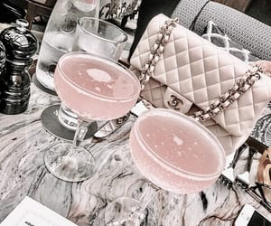 pink, drink, and chanel image