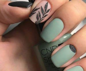 glitter, uñas, and diseños image