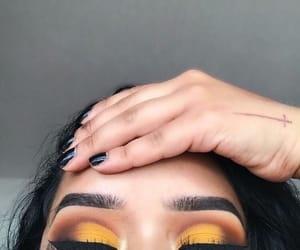 makeup, tumblr, and yellow image