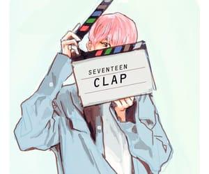 cartoon, clap, and kpop image