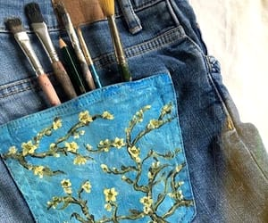 art, paint, and jeans image