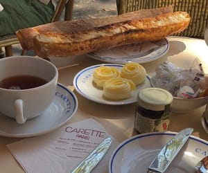 french, breakfast, and paris image