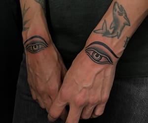 tattoo, eyes, and art image