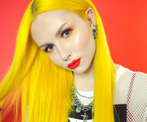 aesthetic, colored hair, and yellow image