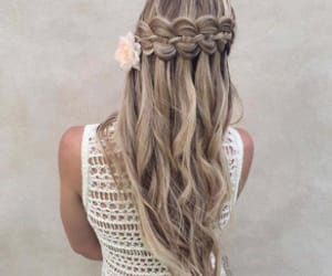 beautiful, cabelo, and flower image