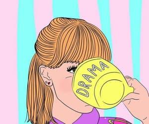 girl, drama, and wallpaper image