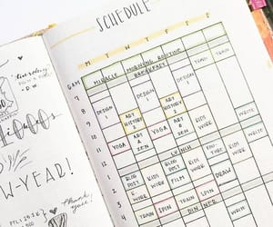 college, journal, and planner image