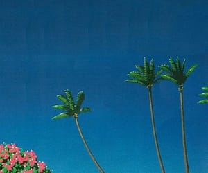 aesthetic, palm trees, and vaporwave image