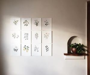 art, botanical art, and flowers image