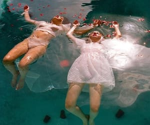 float, girls, and pool image