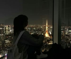 city, girl, and japan image