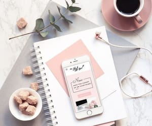 pink, coffee, and book image