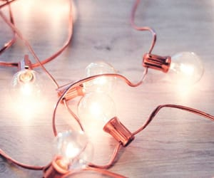 light, rose gold, and aesthetic image