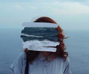 blue, sea, and art image