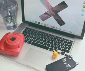 apple, macbook, and instax mini 8 image