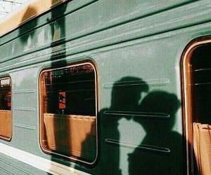 love, kiss, and train image