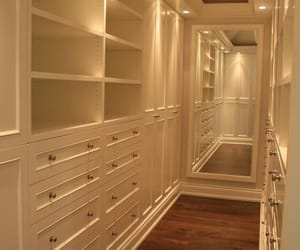 closet, drawers, and mirror image