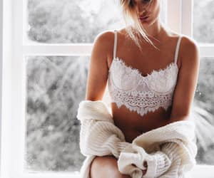 bralette, clothes, and lace image