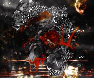 black, deviantart, and red image