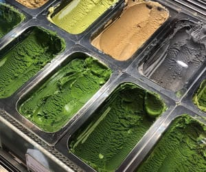 ice cream and green image