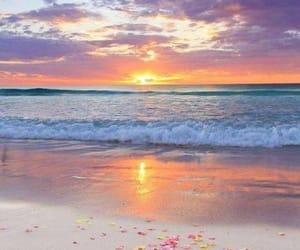 atardecer, belleza, and mar image