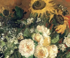 flowers, van gogh, and yellow image