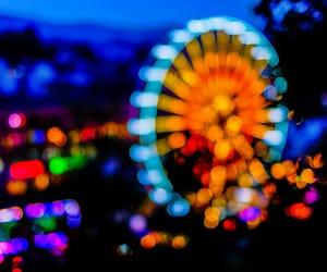 abstract, amusement park, and bokeh image