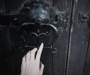black, door, and dark image