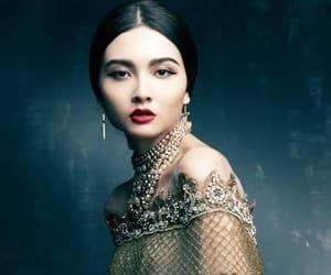 beauty, woman, and dress image