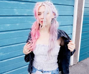 color hair, fashion, and lilac image