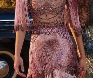 dress, rose gold, and fashion image