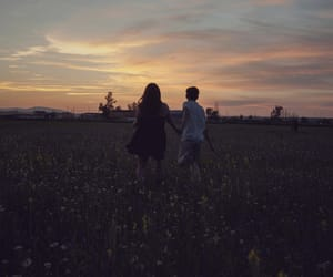 aesthetic, couple, and nature image