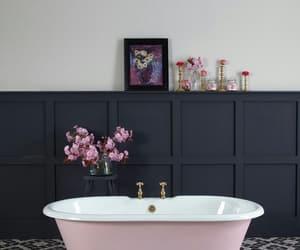 bath, decor, and pink image