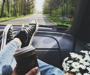 all star, coffee, and flowers image