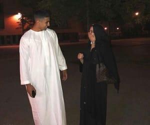 couple, femme, and hijab image