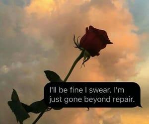 alone, sad, and broken image