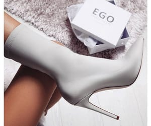 fashion, grey, and high heels image